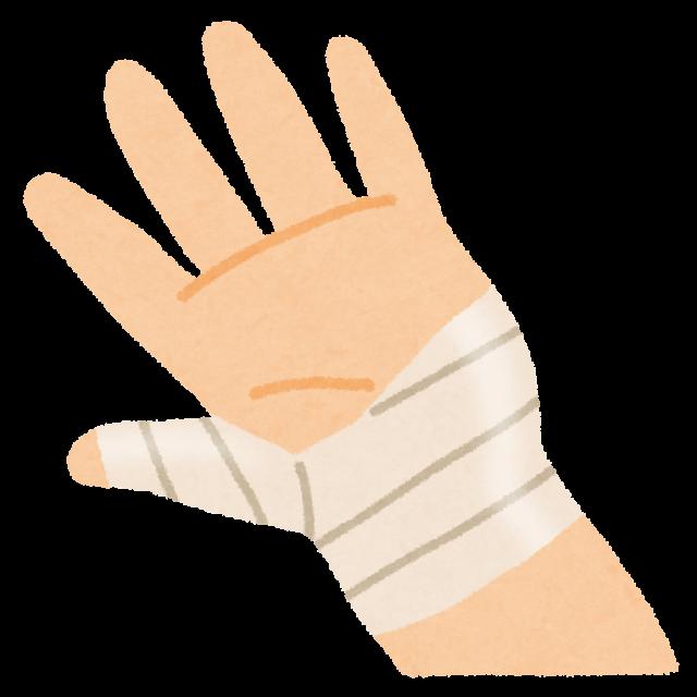 手のテーピング